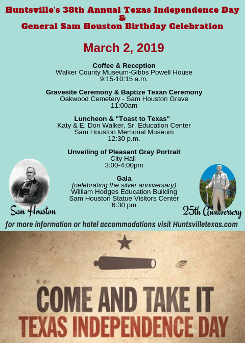 Texas Independence Day Celebration Huntsville Tourism And Cultural